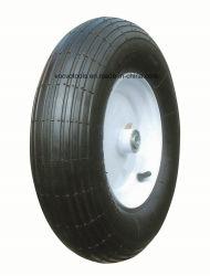 Patrón recto tipo común de la rueda de carretilla de aire de caucho