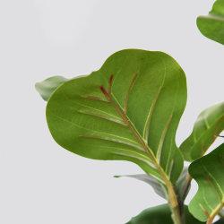 푸른 잎 4 ' 실제적인 접촉 본사 훈장 도매를 위한 인공적인 플랜트 가짜 바이올린 잎 무화과 나무