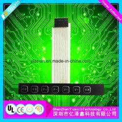 Teclado de membrana impermeable de Panel táctil con botón gráfico
