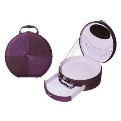 Caixa de couro embalagem cosméticos Caixa de Armazenamento de Cosméticos Makeup caso (6013)