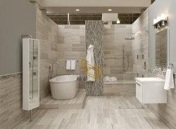 Деревянные бежевого цвета белый мрамор каменными плитками/мозаика/слои REST для ванной/Вилла