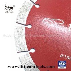 190mm 건식 다이아몬드 톱 블레이드 파워 툴 핫 프레스 커팅 디스크(빨간색)