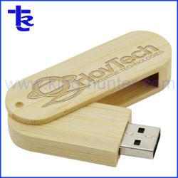Деревянные флэш-накопитель USB поворотный логотип для рекламных подарков
