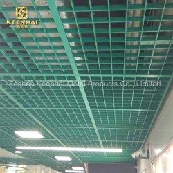 Zone publique revêtu de poudre de couleur vert vert Plafond de la calandre (KH-MC-50)