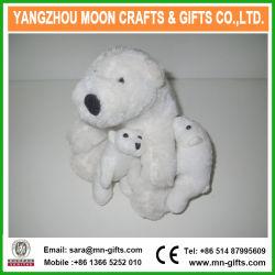 Angefülltes Tier-Bären-Plüsch spielt Eisbären