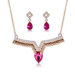 Новый дизайн красный Diamond свадебные украшения,