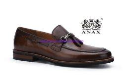 New Fashion e elevada qualidade populares dos homens de deslizamento no pendão couro Calçado Casual