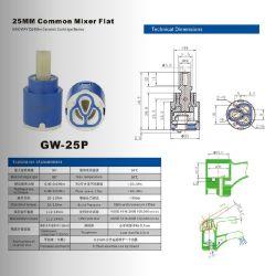 GW-25mm de Koude (hete) slechts Plastic Ceramische Patroon van de Mixer van de Tapkraan zonder Been