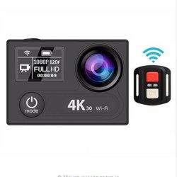 """H8RO Action ultra de la caméra HD 4K Eis Sport WiFi 360vr 1080p LCD 2"""" étanche Wide-Angle 170d casque mini-caméscope de came"""