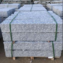 Bush martelado G603 para pavimentação de granito cinza branco piso de pedra da garagem de tijolos de Pavimentação