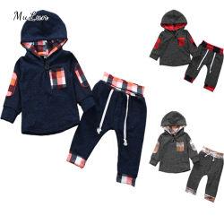 100% хлопок 2 ПК 0-24 месяцев девочек мальчиков одежда для детей Детский одежда устанавливает подходящий