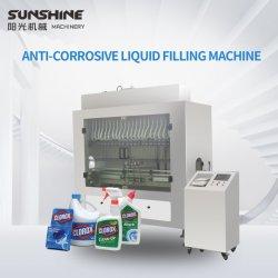 منظف Bleaching Water Toliet تلقائي ومتحكم به من قبل PLC وماكينات تعبئة السوائل الحمضية والمطهرة من الأكالة