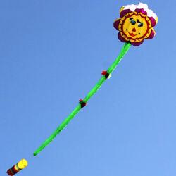 Gran hinchable de nylon suave Flor Kite