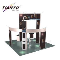 Leve em alumínio simples de configuração Trade Show Suporte para exposições de Alimentação da Cabine de exposições de design 3D