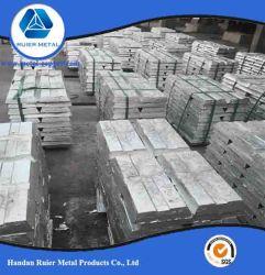 Lingots de zinc 99,98 % prix d'usine haut marchandises bon marché populaire
