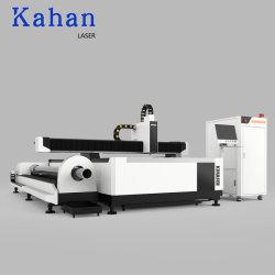 Tagliatrice semiautomatica industriale del laser della fibra del metallo del tubo e del piatto del router dell'incisione del laser di CNC del tubo di prezzi di fabbrica