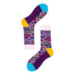 Adorável Colorido Personalizado Feliz homens meias confortável meias de algodão