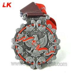 Custom плоский металлический работает медальон для продажи