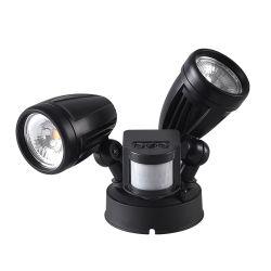 2*14W 250° 動きセンサーが付いている回された二重ヘッドLED壁ランプ