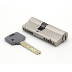 Дверные замки аппаратных средств безопасности, Механические узлы и агрегаты латунные Mortise интерактивные цилиндр замка с ключом