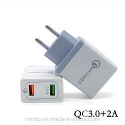 Heiße Verkaufs-Universalwand-Aufladeeinheit neueste Doppel-USB-Aufladeeinheit für iPhone und Samsung bewegliches usw.