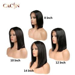 14-дюймовый китайский ребенок Virgin волосы полностью кружевной Wig
