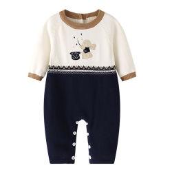 Fabricant de lapin La conception personnalisée de l'automne Boutique Tricot de coton New Born Baby Romper