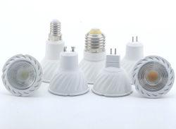Dimerizável 3W 5W 7W RA111 GU53 GU10 COB Lâmpada LED de alumínio para a ribalta branco quente