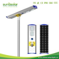 50W Rue lumière solaire intégré avec module de source de lumière réglable