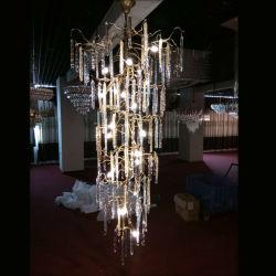 ホテルのプロジェクトのための現代水晶銅のシャンデリアランプの照明は、カスタマイズされて受け入れる