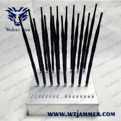 16 canaux puissant GSM 3G CDMA 4WiFi2.4G glte /Wimax Gpsl VHF UHF1-L5 Lojack signal brouilleur de téléphone cellulaire