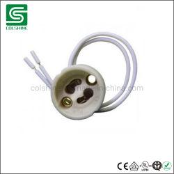GU10 Soquete da Lâmpada LED Lâmpada de halogéneo titular de cerâmica da Base do Conector do Fio