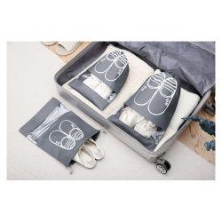 Sapata de Viagens Non-Woven personalizado Saco de armazenamento de pó Saco de calçados para roupa suja