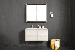 Deb 1500*500*450 мм, кабинет Cutomized твердой поверхности на стене висит новый продукт современной ванной комнате
