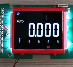 Kundenspezifische preiswerte kontrastreiche Bildschirmanzeige LCD des Farben-Segment-VA für elektronische Produkte