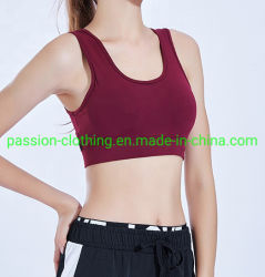 La forma fisica su ordinazione delle donne di marchio mette in mostra il reggiseno di sport riempito maglia superiore di yoga di Activewear di forma fisica del reggiseno per le donne