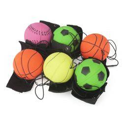 [وريست بند] كرة وثب مطّاطة عادية مع [فلكرو] معصم & مرنة خيط لأنّ إصبع تمرين عمليّ