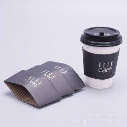 Manicotto di carta su ordinazione con il marchio, manicotto della tazza di caffè della tazza di carta con la stampa