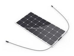 طاقة شمسية شبه مرنة شبه كهربائية بجهد 100 واط وقوة 18 فولت بجهد 12 فولت لوحة لنظام قوارب مركبة رحلات 12 فولت