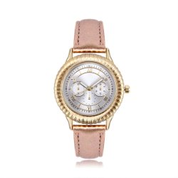Het Horloge van het Kwarts van de Vrouwen van het Leer van de Dames van de Kleding van de Manier van het merk (jy-AL038)