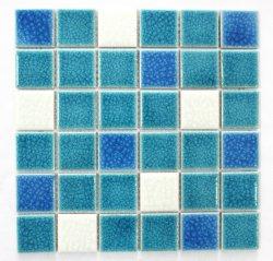 Fissure de la glace Double-Deck Anti-Skid mosaïque bleu-vert Salon Cuisine Salle de bains carrelage mural Mosaïque carrelage mural de fond