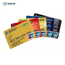 Carte IC sans contact RFID vierge de la carte de taille/couleur/personnalisée de permis de travail d'affaires de l'impression photo PVC en plastique ID carte de crédit Visa ou carte à puce à bande magnétique