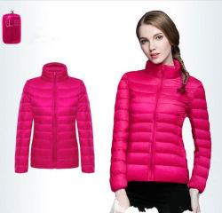 女性の長い袖の軽量のPackableのパッファーのジャケット