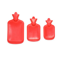 زجاجة مياه ساخنة من المطاط الطبيعي بأحجام مختلفة