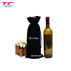 柔らかく贅沢なビロードのワインの記憶袋のワインの保護包装袋のクリスマスのギフトのビロード袋