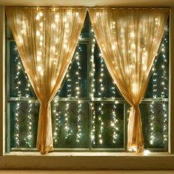Leiden van de Flitser van Kerstmis voor Partij 220V Plugin fonkelen Ster 300 het Licht van het Koord LEDs