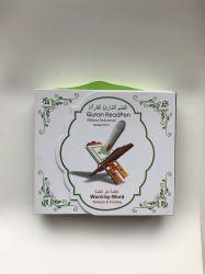 El Corán islámico el aprendizaje digital Libro Reading Pen Corán con el Sonido sagrado y 8g de memoria Card-Model Pq15 Islámico Don reproductor de MP4