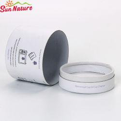 Sun Nature Paper Board rond blanc des pots de bonbons de mariage