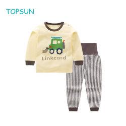Kleinkind-Mädchen-Jungen-stellten Unisexkind-Kleinkind-BaumwollpyjamasSleepwearPjs 100% mit der hohen Taille ein