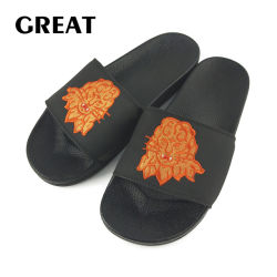 Greatshoe Groothandel PVC Slide Slipper Schoeisel Man Custom Blank Logo Slide Sandaal met borduursel